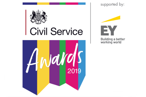 Logo for the Civil Service Awards 2019