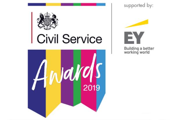 Logo for the Civil Service Awards 2019